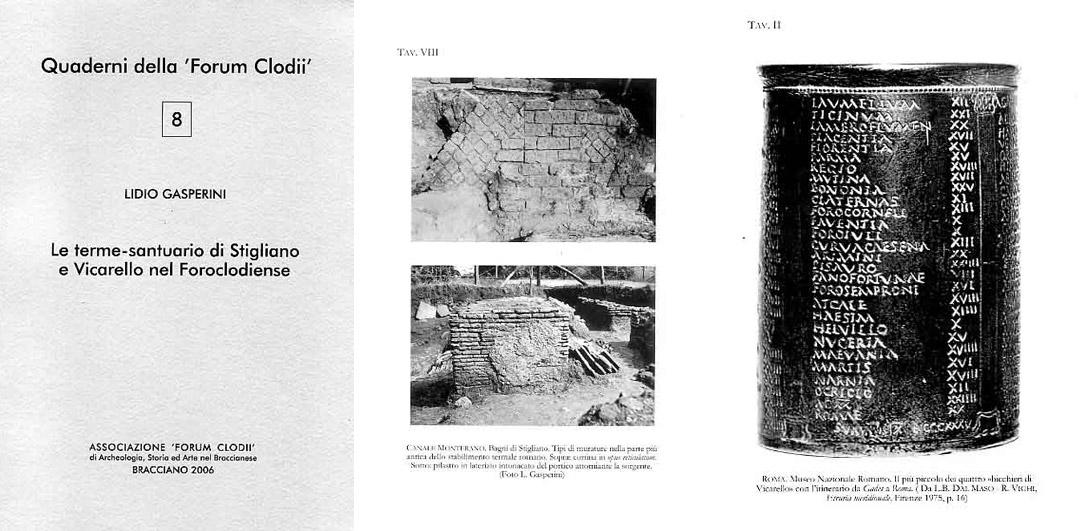 Pubblicazioni Matrimonio Oriolo Romano : Quaderno 8 associazione forum clodii archeologia storia ed arte