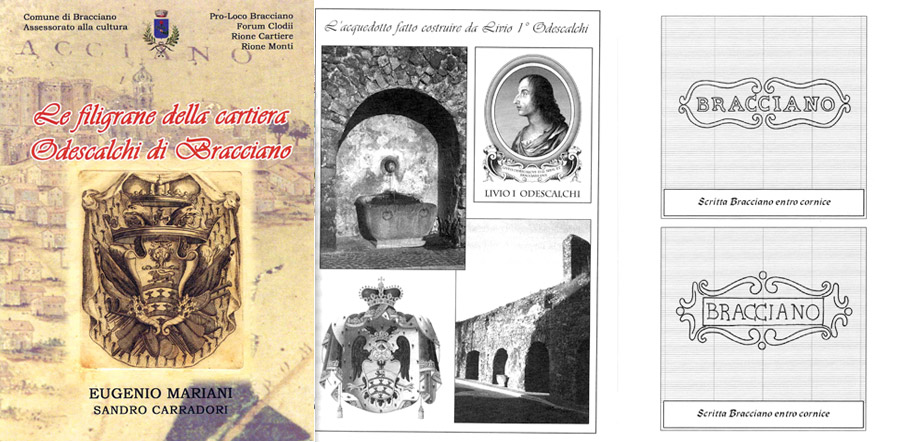 Pubblicazioni Matrimonio Oriolo Romano : Filigrane odescalchi associazione forum clodii archeologia